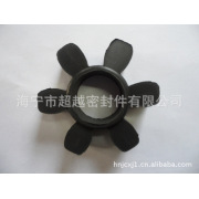 Production of fluororubber plum pads for couplings, elastomers, hexagonal blocks, elastic rings