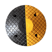 Safetyware End Caps for Rubber Speed Hump with Cat Eye Made with durable rubber material, highly visible