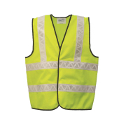 Safetyware Eco Safety Vest with 2x Horizontal Reflective Tapes Made of 100% polyester Knit fabric