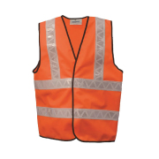 Safetyware Eco Safety Vest with 2xHorizontal & 2xVerticall Reflective Tapes High visibility, lightweight and comfortable