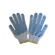 Woven Cotton Gloves With PVC Dots Durable, with non-slip protection