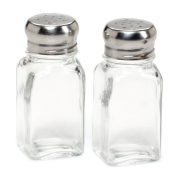 171002 SALT SHAKER GLASS WITH STAINLESS STEEL CAP