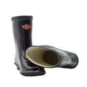 Iron toe rubber rain boots