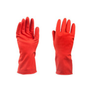 Short rubber gloves