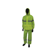 Safetyware Polyester Rain coat with Silver Reflective Waterproof, durable, comfortable to wear