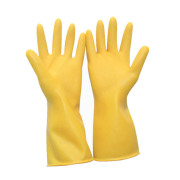 Long rubber gloves