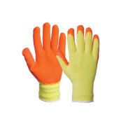 Gloves Working Cotton Rubber Coated Palm Nonskid and wear-resisting comfortable and breatha