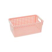 Plastic Storage Basket Rigid Plastic Container, durable and space saving