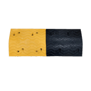 Safetyware Rubber Speed Hump with Cat Eyes Durable, moisture and temperature resistant