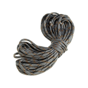 Double-layer multi-strand braided cable with outer polyester and inner nylon
