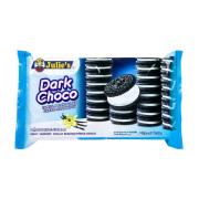 Julie's Dark Choc Vanilla Sandwich Biscuit Malaysia Flavorful cookie for chocolate lovers
